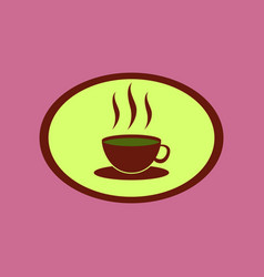 Icon in flat design logo coffee cup vector