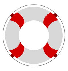 Isolated lifesaver icon vector