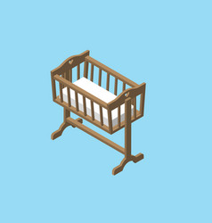Isometric baby cradle vector
