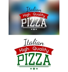 Italian pizza label or banner vector image