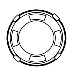 Lifeguard floa isolated icon design vector