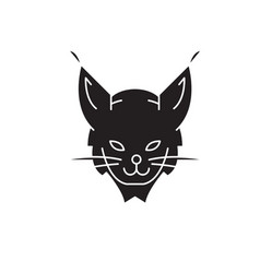 Lynx head black concept icon lynx head vector