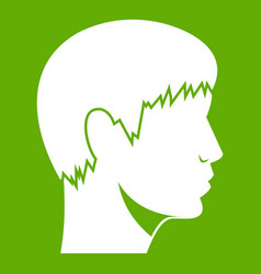 man head icon green vector image