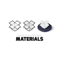 Materials icon in different style vector image