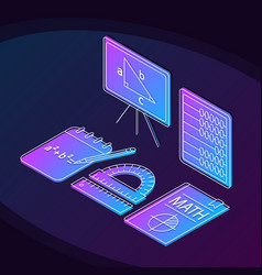 Math isometric color vector