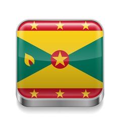 Metal icon of Grenada vector image