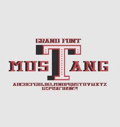 Mustang thin 3d font vector