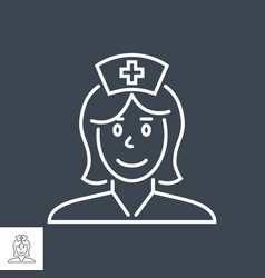 Nurse related thin line icon vector