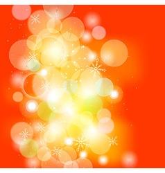 Orange Christmas Background vector