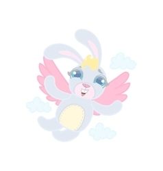 Rabit With Wings Flying vector image