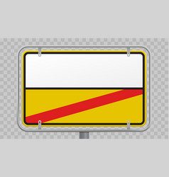 road sign city limit and town entry and exit vector image