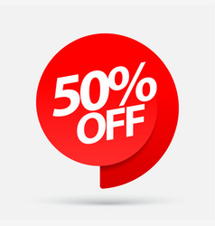 Sale of special offers discount with the price is vector