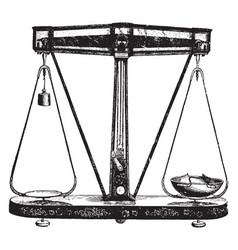 Scales vintage vector