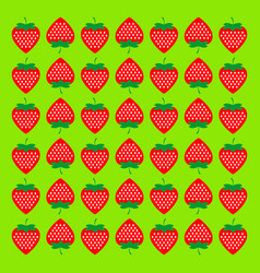 seamless background with strawberries pattern vector image