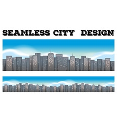 Seamless buildings in the city vector image