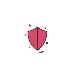 Security badge law safety icon design vector
