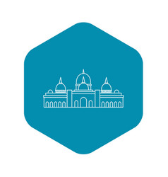 Sheikh zayed mosque abu dhabi icon outline style vector