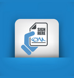 Sign on document vector