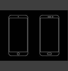 smartphone outline icon vector image