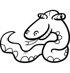 snake cartoon coloring page vector image