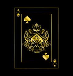 Spades ace gold vector