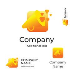 Speaker modern logo bright identity brand symbol vector