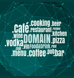 Sport domain names cloud vector