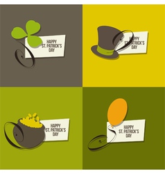 St Patrick Day symbols vector