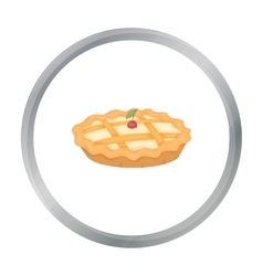 Thanksgiving pie icon in cartoon style isolated on vector