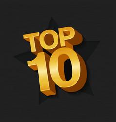Top ten golden words vector