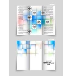 Tri-fold brochure design vector image
