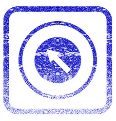 Up-left rounded arrow framed textured icon vector