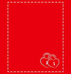 Valentine card frame love letter with empty space vector