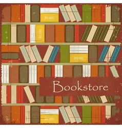 Vintage Bookstore Background vector