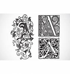 Vintage traced woodcut vector