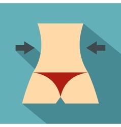 Women slim body icon flat style vector image