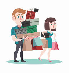 young people in shop vector image