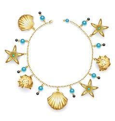 Bracelet with Seashells vector image vector image