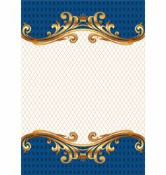 ornate gold frame vector image vector image