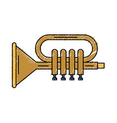 trumpet musical instrument icon vector image