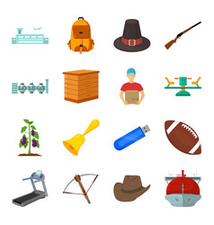 country finance nature and other web icon in vector image