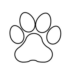 footprint mascot isolated icon vector image vector image