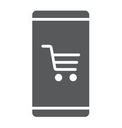 smartphone with open store application glyph icon vector image