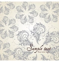 Background with Vintage Label vector image vector image