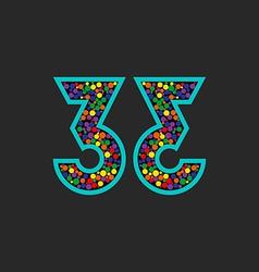 Number 33 logo mockup birthday celebration poster vector image