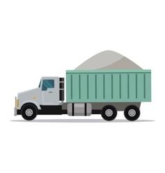 Trucking banner cargo concept truck tipper vector