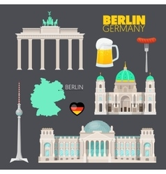 Berlin Germany Travel Doodle with Architecture vector image