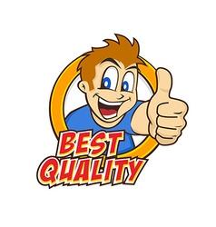 cartoon guy thumbs up vector image vector image