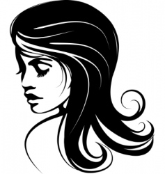 glamour girl with black hairs vector image