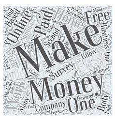 Make Money Online Work at home to make easy money vector image